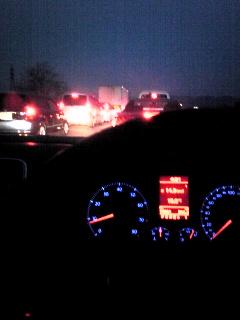 早朝でも渋滞