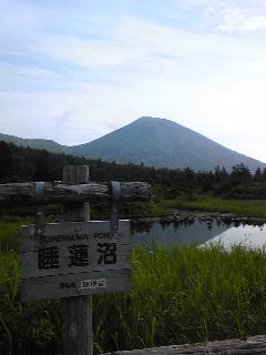 八甲田山を眺める